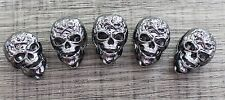 Lot 10 Gun Metal Skull Bead Paracord Lanyards Bracelets Charm Crafts Jewelry DIY