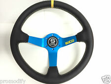 350 mm Genuine Leather Deep Dish Steering Wheel Fit OMP NARDI MOMO Boss Kit L550