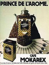 PUBLICITE ADVERTISING 075  1981  MOKAREX  le café en grains ROYAL