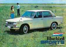 NISSAN BLUEBIRD CAR 1970 vintage Japanese advertising poster B1 29x41 NM