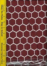 QUILT FABRIC: 100% COTTON, BURGUNDY HONEYCOMB, By The Yard