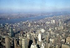 INCREDIBLE Vtg 1956 New York City Areal View Manhattan Hudson River 35 mm Slide