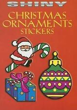 SHINY CHRISTMAS ORNAMENTS STICKERS BOOK, Dover, Santas, wreaths, presents, more