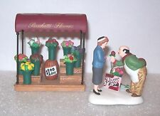 Dept 56 CIC Christmas in City FRESH FLOWERS FOR SALE florist ROSES NIB 37% OFF!!