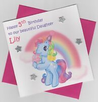 Personalised Handmade My Little Pony Birthday Card - Daughter, Sister, Niece etc