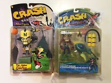 CRASH BANDICOOT & DR. NEO CORTEX OFFICIAL FIGURES Sony Playstation - ULTRA RARE