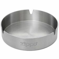 Zippo 121512, Stainless Steel Cigarette Ash Tray With Zippo Logo