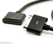 Dock 30p Extender Cable For Apple iPhone 4S iPod New iPad 2 3 HDMI VGA Extension
