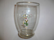 1956 OLYMPIC GAMES MELBOURNE ORIGINAL GLASS with Official Olympic Logo No1 FREE!
