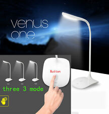 USB Rechargeable Touch Sensor Cordless LED Light Desk Table Reading Lamp-White