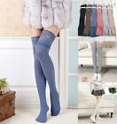New Women Lace Cotton Over Knee Thigh Knit Tights Stockings High Socks Pantyhose