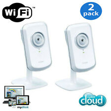 2-PACK D-Link DCS-930L mydlink Wireless N Network Cloud Camera / Remote Viewing
