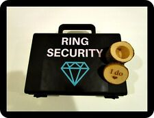 Light up LED ring box briefcase for bearer ring security wedding I do wood box
