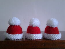 CHRISTMAS HAND KNITTED EGG COSIES.