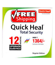 Renewal  Upgrade Quick Heal Total Security 1 User  1 Year  1PC 1 Yr Quickheal