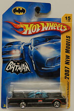 2007 BATMAN BATMOBILE BLACK 1966 TV MOVIE SHOW HW HOT WHEELS