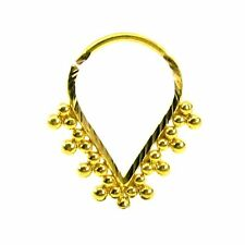 Precious Piercing nez Septum Nose Hoop Ring Real 22k Yellow Gold