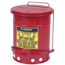 JustRite 6 Gallon Oily Rag Can 09100 (Made in USA)