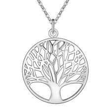 Baum des Lebens Anhänger Halskette Silber Glücksbringer  Wunschbaum Lebensbaum