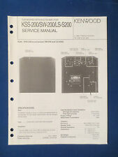 KENWOOD KSS-200 SW200L LS-S200 SUBWOOFER SERVICE MANUAL ORIGINAL GOOD CONDITION