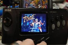 Sega Nomad Genesis New LCD New Capacitors New glass screen REGION/SMS unlock