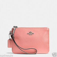 Coach Wristlet F52850 Coach Crossgrain Leather Small Wristlet Pink Agsbeagle