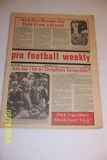 1972 PRO FOOTBALL Weekly MIAMI Dolphins EARL MORRALL No Label 10-0 INVINCIBLE?