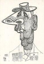 CARTE POSTALE ILLUSTRATEUR / TIM / DE GAULLE D'APRES PICASSO 1982
