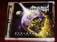 Oblivion: Cyclogenesis - Songs For Armageddon 2 CD Set 2016 Divebomb DIVE121 NEW