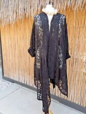 THE EXQUISITE SKULLZ LONDON BLACK LACE ART TO WEAR LAGENLOOK THE SHIRAZ JACKET