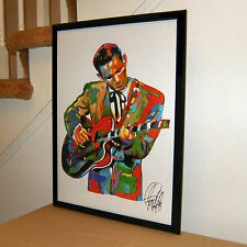 Chet Atkins, Guitar, Musician, Rockabilly, Country, Music, 18x24 POSTER w/COA