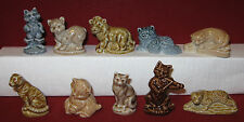 HTF Mint Wade Whimsies Complete 10 Piece Cat Collection 1996 10 pieces in all