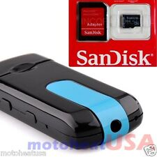 8GB Hidden Mini USB Flash Drive Spy Cam Camera Nanny HD DVR Video Recorder U8 US