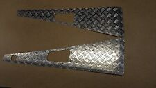 LAND ROVER DEFENDER 90 110 A PAIR CHEQUER PLATE WING TOP PROTECTORS 2MM  ALLOY