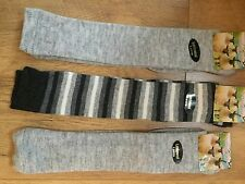 *3 pairs Ladies Luxury Shetland Wool Rich Socks 70%WOOL KNEE HIGH LONG SOCKS HJK