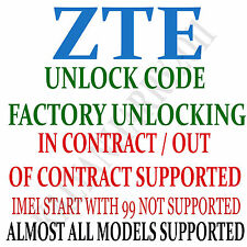 Unlock Code for ZTE MF30 NetworkUnlock Code-SIMUnlock Pin