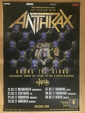 Anthrax 2017 Tour + ORIG. CONCERT POSTER -- manifesto concerto a1 NUOVO