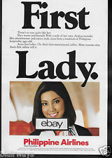PHILIPPINE AIRLINES FIRST LADY FLIGHT ATTENDANT 1983 ASIA'S 1ST AIRLINE AD