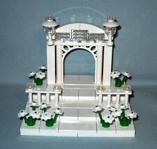 NEW LEGO WEDDING ARCH WITH STAIRS CAKE TOPPER FOR BRIDE AND GROOM MINIFIGURES