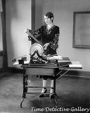 Woman Operating a Mimeograph Machine - 1920s - Historic Photo Print