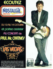 PUBLICITE ADVERTISING 046  2005  Paul Mc Cartney concert Las Vegas & Nostalgie
