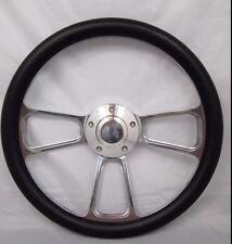 """Boat Billet steering wheel W/ Adapter 3 spoke boats 3/4"""" tapered key Marine"""
