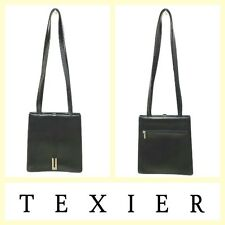 Texier $395 small black leather bag w/long straps