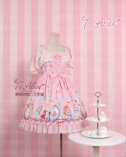 Japanese Vintage Fairytale Sweet Lolita Chiffon Lace Bow Princess Fairy Dress