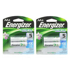 2 Pack Energizer Rechargeable Power Plus AA 2300 mAh Batterie 2 Ea = 4 Batteries