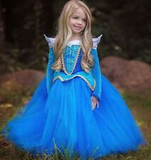 New Kids Girl Sleeping Beauty Princess Aurora Fancy Dress Xmas Halloween Costume