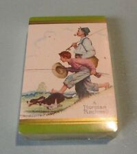 Vintage Norman Rockwell Hunting Dog Fishing SEALED Playing Cards Deck Gold Edges