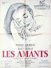Affiche 60x80cm LES AMANTS 1958 Louis Malle - Jeanne Moreau, Jean-Marc Bory R67