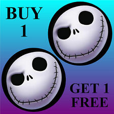 NIGHTMARE BEFORE CHRISTMAS - FUN CAR / WINDOW STICKER + 1 FREE - NEW - GIFT
