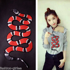 Snake Pattern Sticker Iron-On Embroidered Applique Patches Decoration Sew DIY